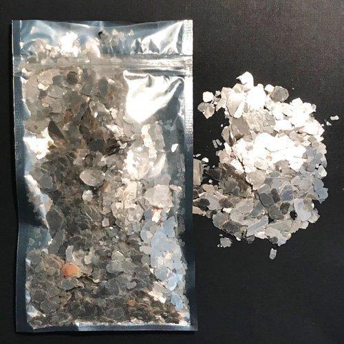 "Platinum Pearl -""Medium size"" Natural Mica Minerals 28 gram Pouch $11.99"