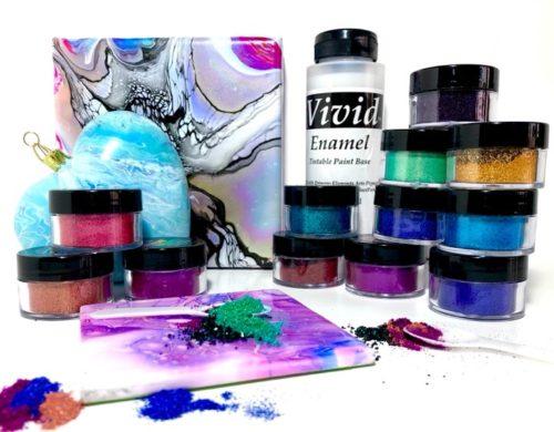 ".""BIG Bright Blooms"" 32oz Vivid Enamel-Primary Elements-12 colors 30ml Jars Set"