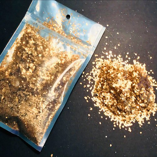 Chunky Fools Gold Natural Mica Minerals 28 gram Pouch $11.99